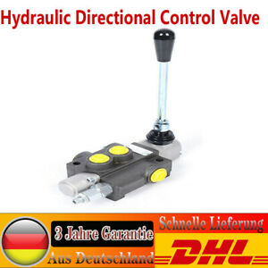 1 Spool Hydraulic Directional Control Valve 11gpm Double Acting Cylinder 40l min