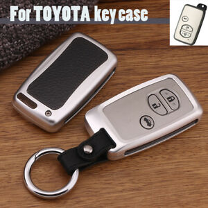 For Toyota 4runner Land Cruiser Prius Alloy Car Remote Key Fob Case Holder Shell