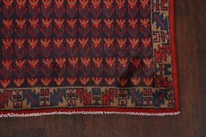 Vintage All Over 10 Ft Runner Mahal Hand Knotted Stair Rug Wool 9 7 X 3 6