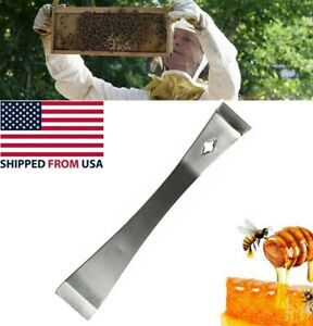 Beekeeper Hive Beekeeping Tool Bee Hook Equip Stainless Steel Scraper Us Stock