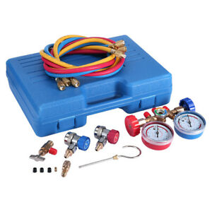 3 Way Ac Diagnostic Manifold Gauge Set For Freon Charging Fits R134a R12 R22 Usa
