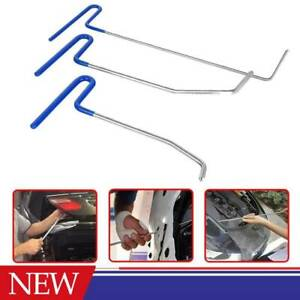 3pcs Paintless Dent Removal Hooks Rods Car Damage Repair Spring Steel Ding Us