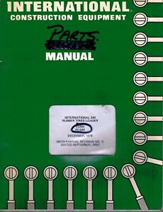 International 540 Rubber Tire Loader Parts Manual Pc 540