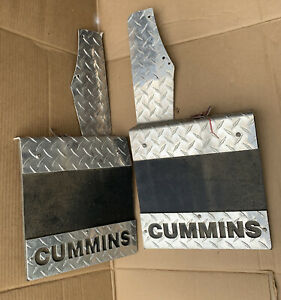 Custom Made Aluminum Diamond Plate Dodge Ram Cummins Diesel Mud Flaps Guards Pr