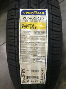 2 New 205 65 15 Goodyear Assurance Fuel Max Tires