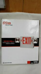 Atlas Led Exit Sign With Emergency Lights Excwrrc