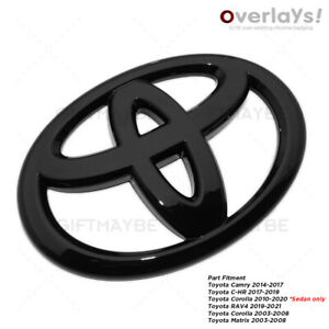 For Toyota C Hr Camry Corolla Rav4 Matrix Trunk Lid Overlay Add On Cover Emblem