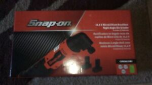 New Snap on Cgrr861gw2 14 4v Brushless Right Angle Die Grinder Kit Green