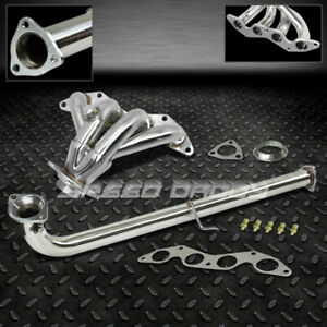 4 1 Stainless Racing Header downpipe Exhaust For 01 05 Civic Ex Em2 es2 D17a2
