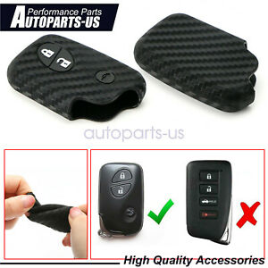 Carbon Fiber Style Soft Silicone Key Fob Cover For Lexus Is Es Gs Ct Lx Gx Rx