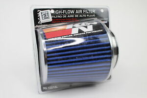 K N 3 To 4 Round Tapered Universal Air Intake Cone Filter Blue Car Suv Truck