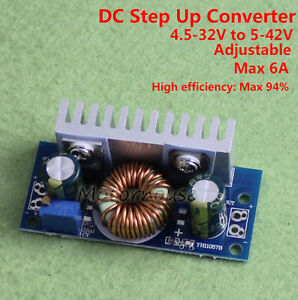 Dc dc Boost Volt Regulator Step up Converter 12v 19v 24v 36v 6a Carsupply Module