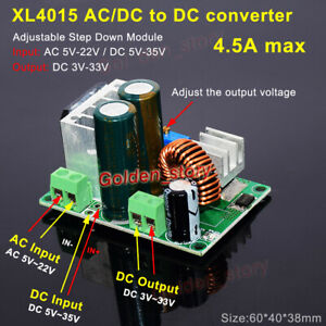 Xl4015 Ac dc To Dc Buck Step Down Volt Converter 3 3v 5v 12v 24v 4 5a Regulator