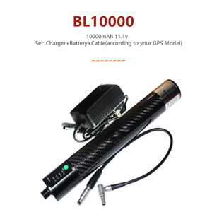 Bl 10000 10000mah Extensional Li ion Battery W Charger To Rtk Gps Carbon Poles