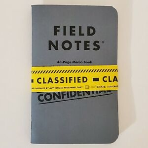 Field Notes X Ddc Confidential 48 page Memo Books 2pack Loot Crate Exclusive2015