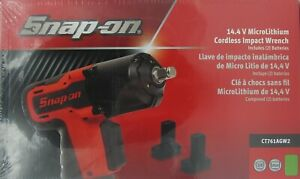 New Snap On 14 4 3 8 Drive Micro Lithium Cordless Impact Wrench Kit Ct761agw2