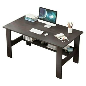 Computer Desk Pc Laptop Table Study Workstation Wood Home Office W shelf