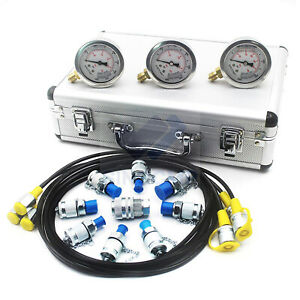 Sinocpc Hydraulic Pressure Test Kit Hydraulic pressure gauge kit For Excavator
