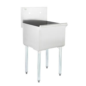 Commercial Utility Hand Sink Stainless Steel 1 Compartment 16 gauge 18 x18 x13