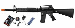 Lancer Tactical LT 22B M4 Airsoft Rifle AEG Gun Battery Charger Black $149.95