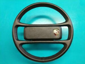 Porsche 911 Carrera Custom Black Steering Wheel New Leather