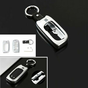For Jeep Cherokee 2014 2020 Key Case Shell Cap Protector Trim Zinc Alloy Silver
