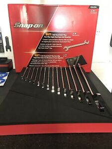 Snap On Tools 3 8 1 1 4 14pc Four Way Angled Head Offset Wrench Set Svs01fbrx