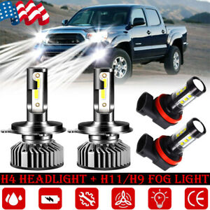 For Toyota Tacoma 2012 2015 Kit Combinado 4x F2 6000k Faros Antiniebla Led