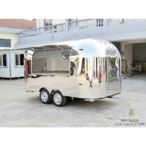 12 Mobile Food Cart Trailer made To Order Stainless Steel Custom Food Truck