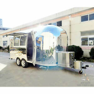 17 Mobile Food Cart Trailer made To Order Stainless Steel Custom Food Truck