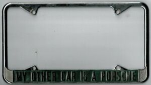 my Other Car Is A Porsche Vintage 356 911 912 924 License Plate Frame