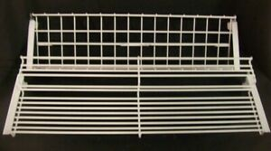 Store Display Fixtures 2 Wire Display Shelves For Wall Standards 24 Long White
