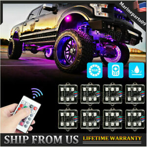 Led Underglow Rgb Rock Lights Multicolor Neon Strip Light Kit For Off Road Truck