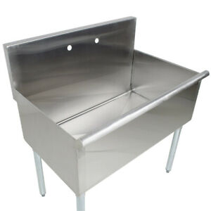 1 Compartment Utility Sink 36 Freestanding Stainless Steel 16 gauge Deep Bowl