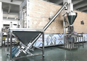 Spices And Powder Filling Machine auger Filler With Spiral Feed Brand New
