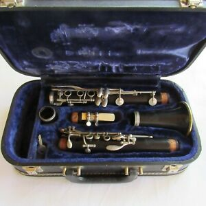 Buffet Crampon Evette Clarinet Paris France Case Key D23038 Vintage