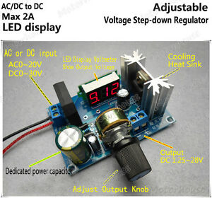 Digital Led Adjust Volt Regulator Buck Step down Converter Ac dc To Dc5v 12v 24v