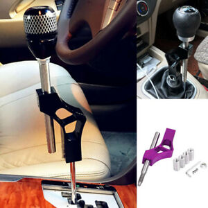 Car Aluminum Shift Extension Knob Lever Extender Adjustable Height Gear Shifter