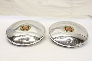 Nos Vintage Namsco Accessory Car Truck Chrome Hubcap Wheel Center Cap Pair
