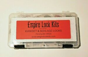 Lock Rekey Kit Pinning Kit Kwikset And Schlage Top And Bottom Pins With Springs