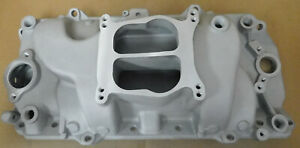 Bb Chevy Performer Style Oval Port Aluminum Intake Dual Plane Dual Flange