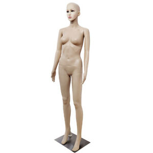 Female Full Body Realistic Mannequin Display Head Turns Dress Form Base 176cm