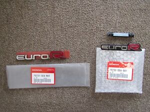 Honda Accord Euro R Cl7 Euror Emblem Ff rr Set Of X2 75731 sea r01 75732 sea 901