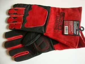 Lincoln Elecric Xl Welding Gloves Leather Kh962 Black red New