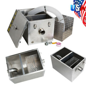 Commercial Grease Oil Trap Interceptor Filter Kit Wastewater Removable Baffles