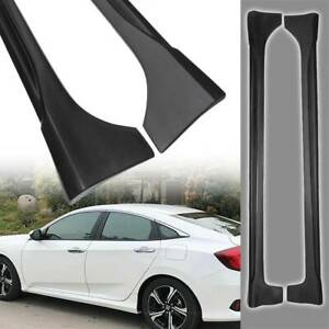 For 2016 19 Honda Civic 4dr Sedan Lx Ex Si Type R Style Side Skirt Extension New