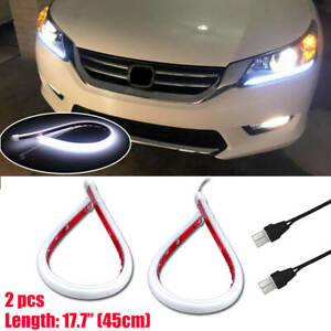 For Honda Accord 2013 2015 White Led Drl Headlight Strip Light Lamp Oem Retrofit