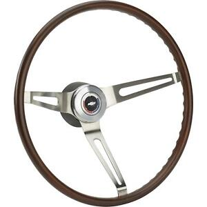 Oer R6532 Walnut Steering Wheel Kit 67 68 Nova 67 68 Camaro chevelle