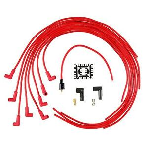 Accel 4041r Spark Plug Wire Set 8mm Super Stock Universal Red