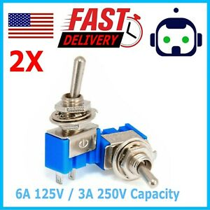 1 New Spst Mini Toggle Switch On on on off Solder Lug Usa Seller